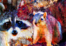 Raccoon and squirrel art